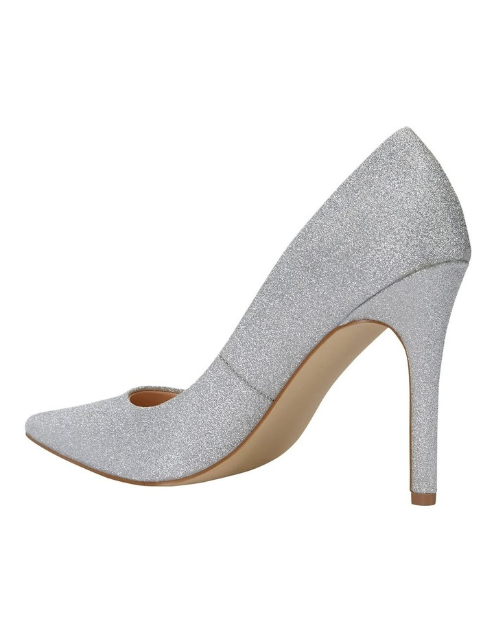 Harbour Silver Glitter Heeled Shoes image 7