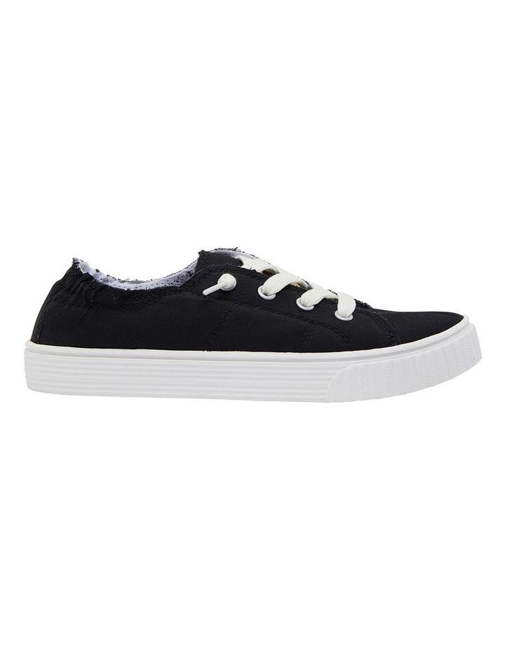 Mara Black Canvas Sneakers image 1