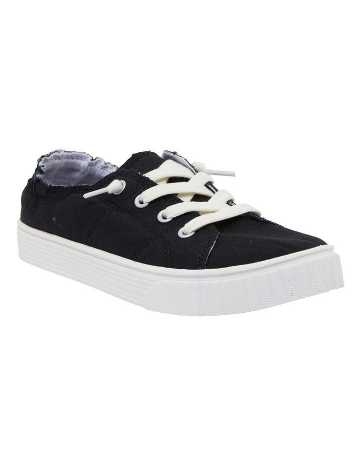 Mara Black Canvas Sneakers image 2