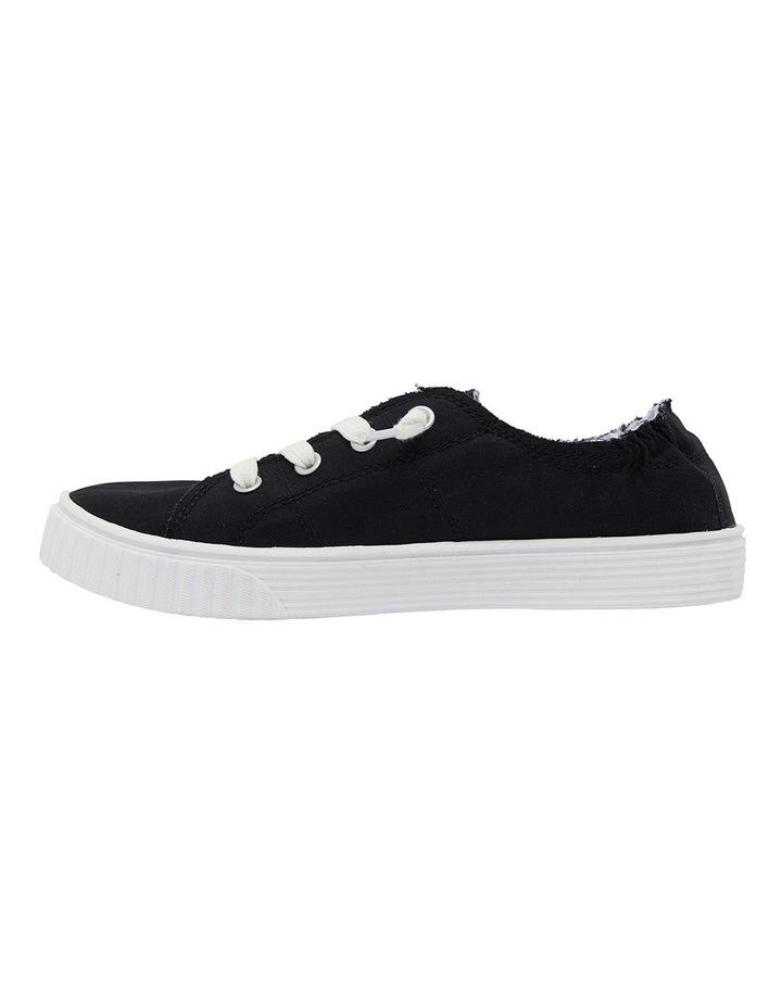 Mara Black Canvas Sneakers image 3