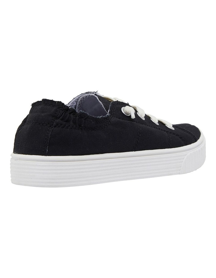 Mara Black Canvas Sneakers image 4