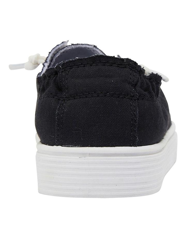 Mara Black Canvas Sneakers image 5