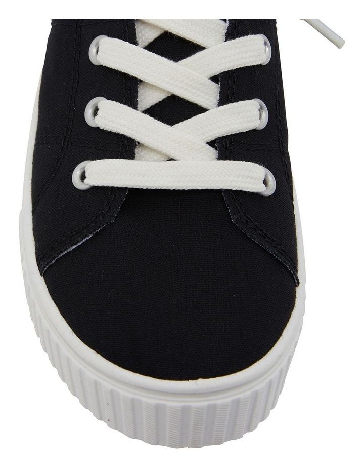 Mara Black Canvas Sneakers image 6