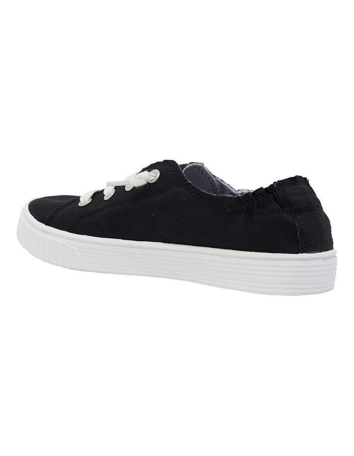 Mara Black Canvas Sneakers image 7