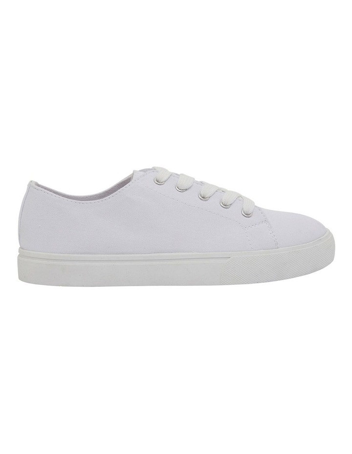 Rave White Canvas Sneakers image 1