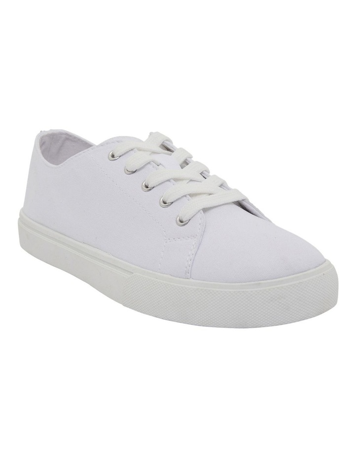 Rave White Canvas Sneakers image 2
