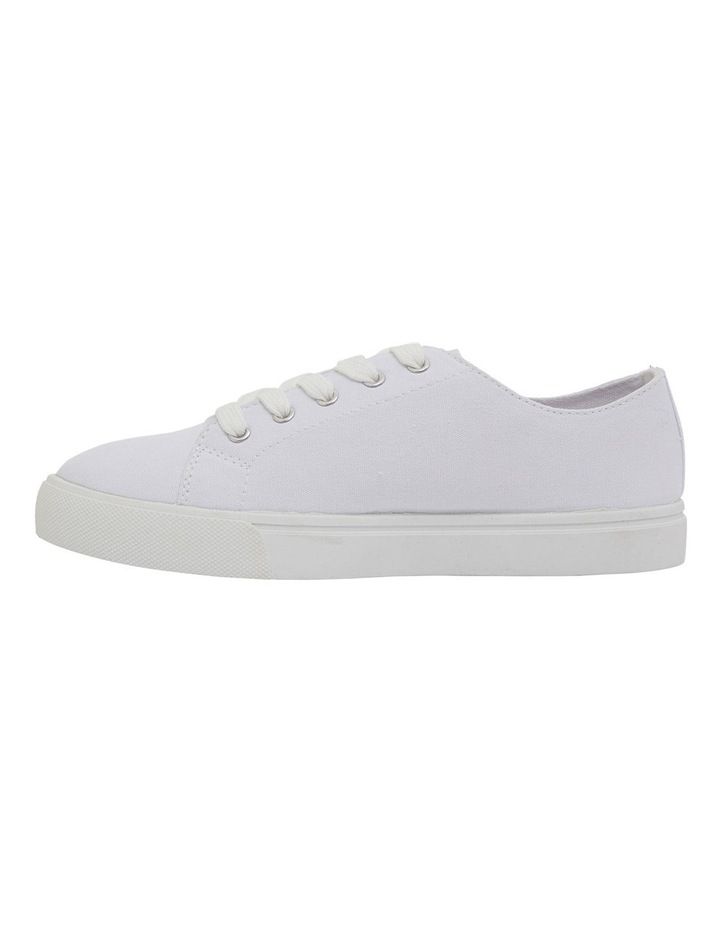 Rave White Canvas Sneakers image 3