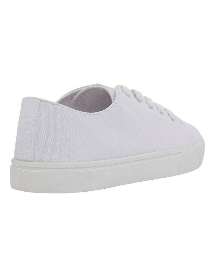 Rave White Canvas Sneakers image 4