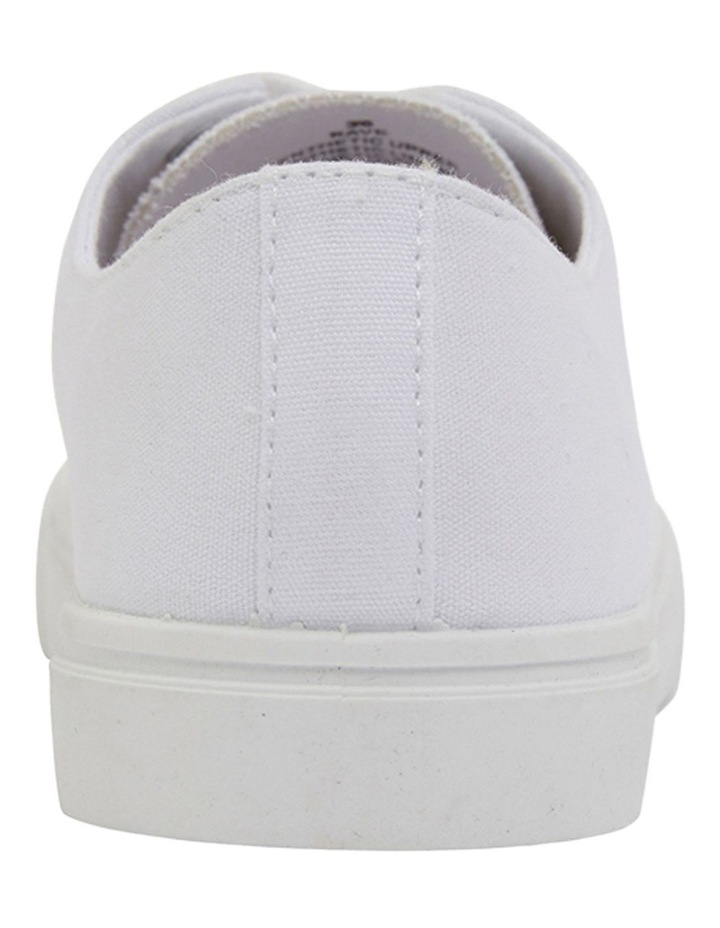 Rave White Canvas Sneakers image 5