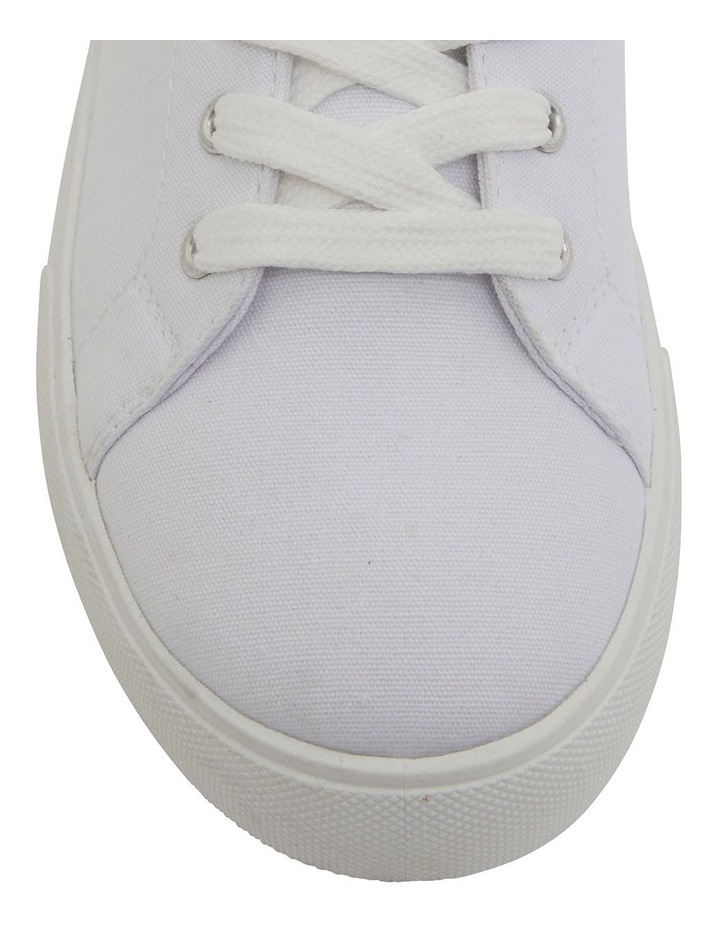 Rave White Canvas Sneakers image 6