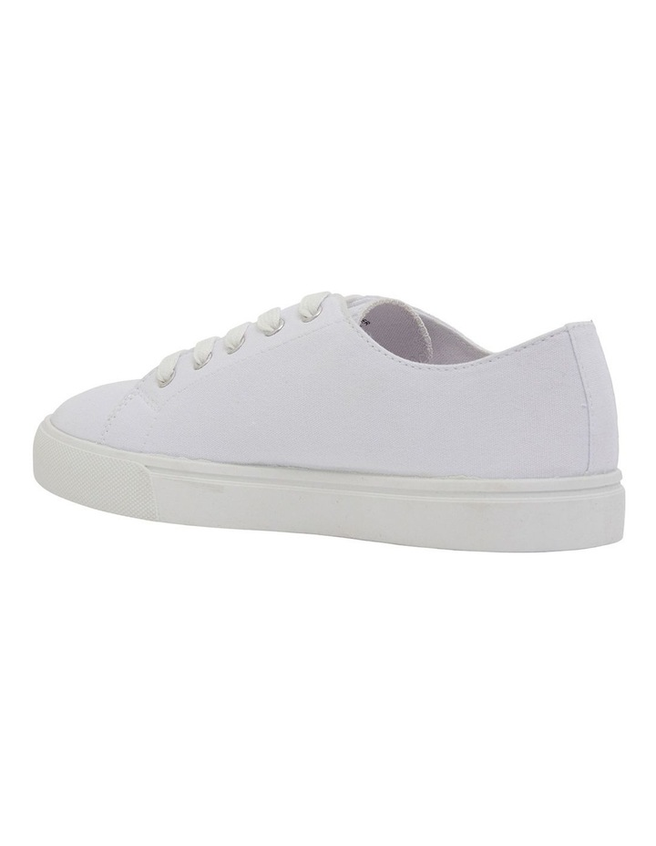 Rave White Canvas Sneakers image 7