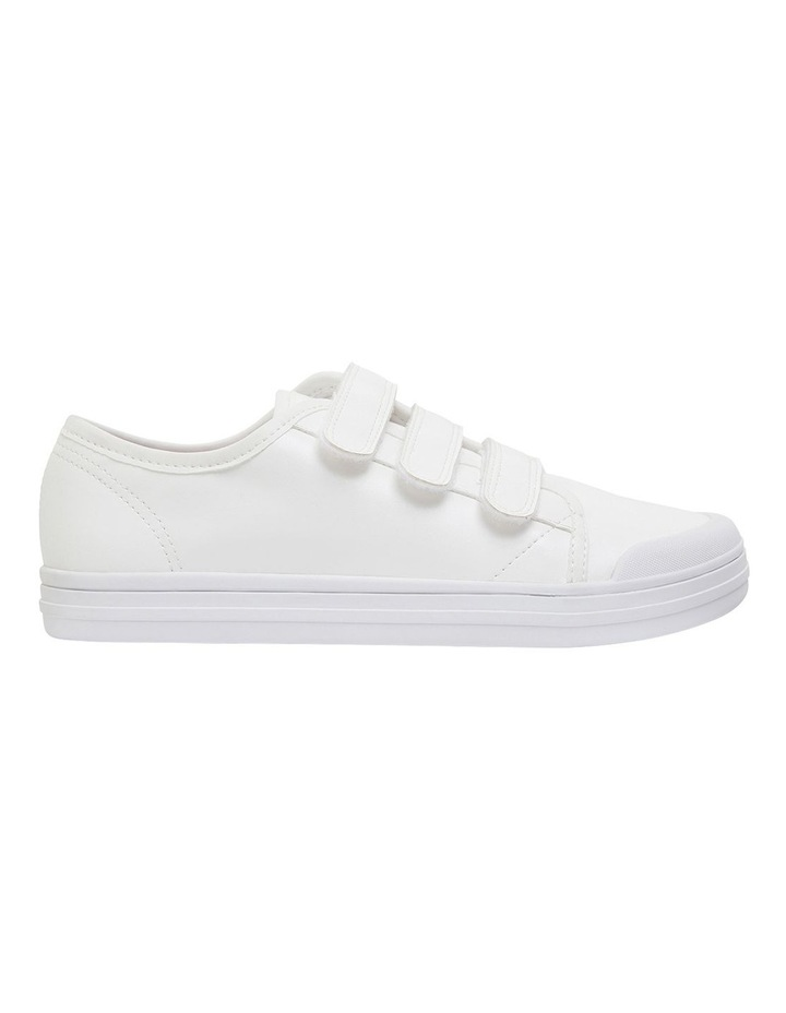 Veda White Smooth Sneakers image 1