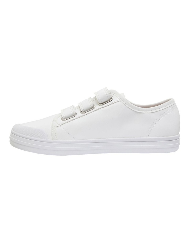 Veda White Smooth Sneakers image 3