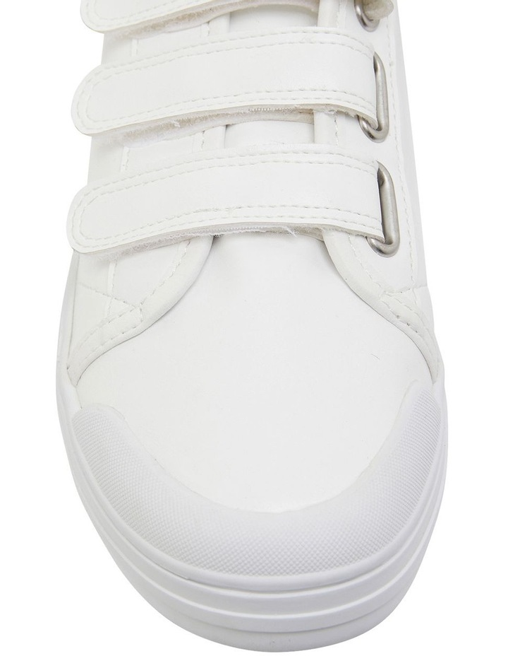 Veda White Smooth Sneakers image 6