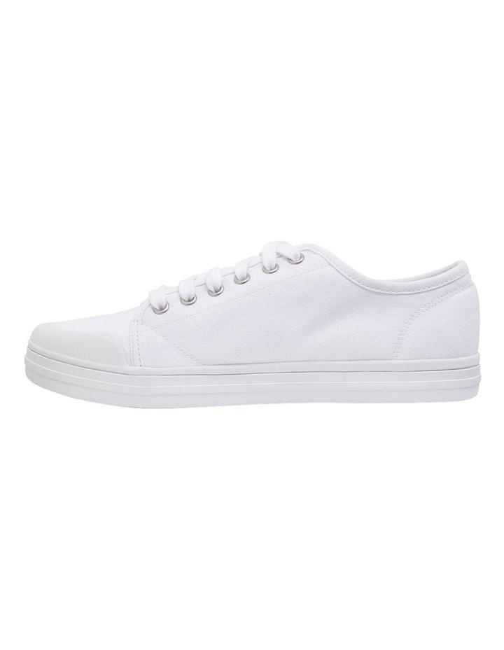 Ventura White Canvas Sneakers image 3