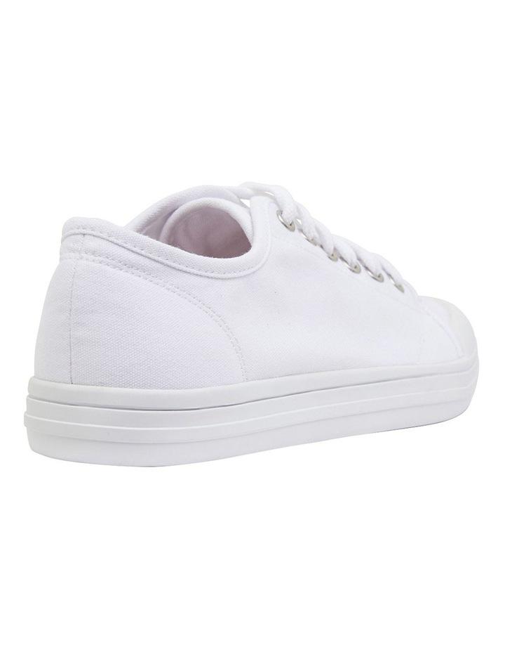 Ventura White Canvas Sneakers image 4
