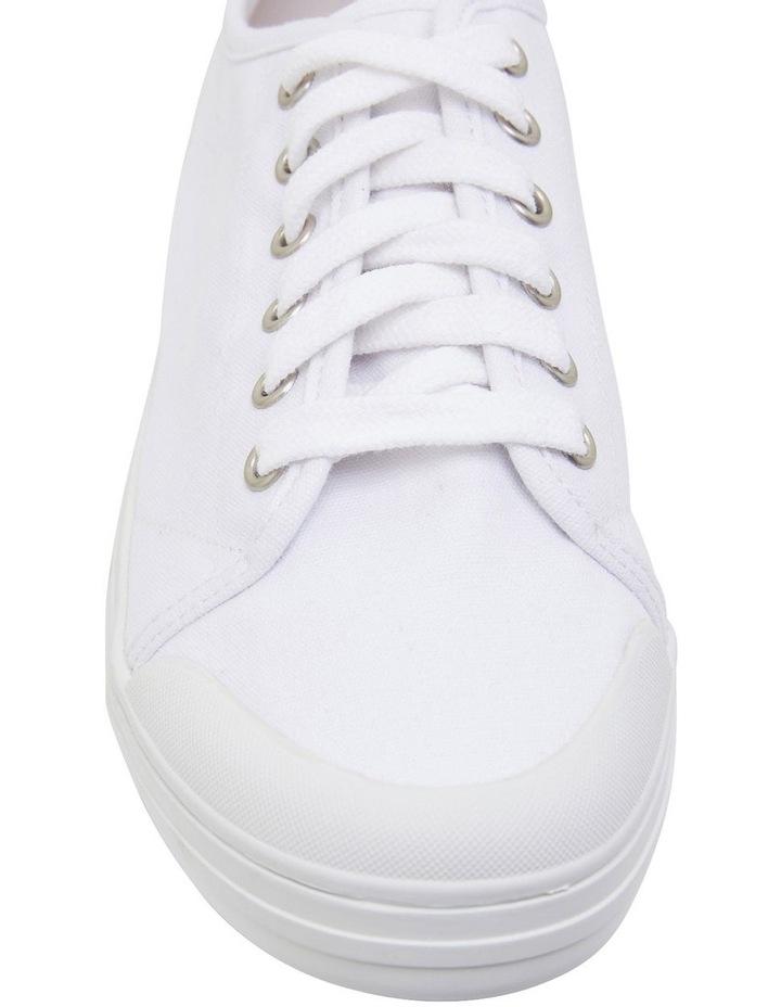 Ventura White Canvas Sneakers image 6