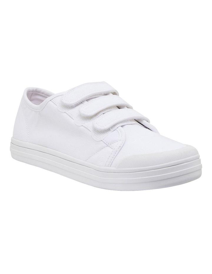 Vessie White Canvas Sneakers image 2
