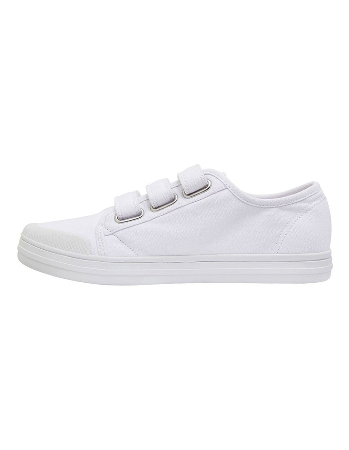 Vessie White Canvas Sneakers image 3