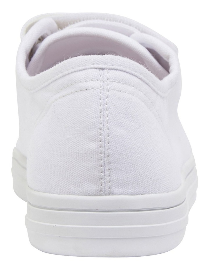 Vessie White Canvas Sneakers image 5