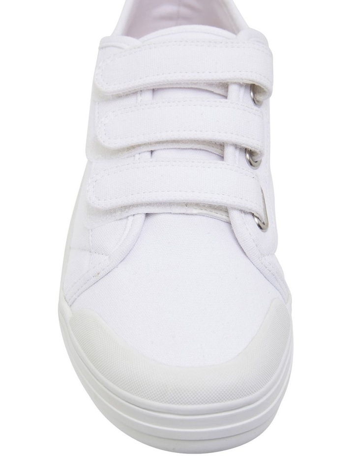 Vessie White Canvas Sneakers image 6