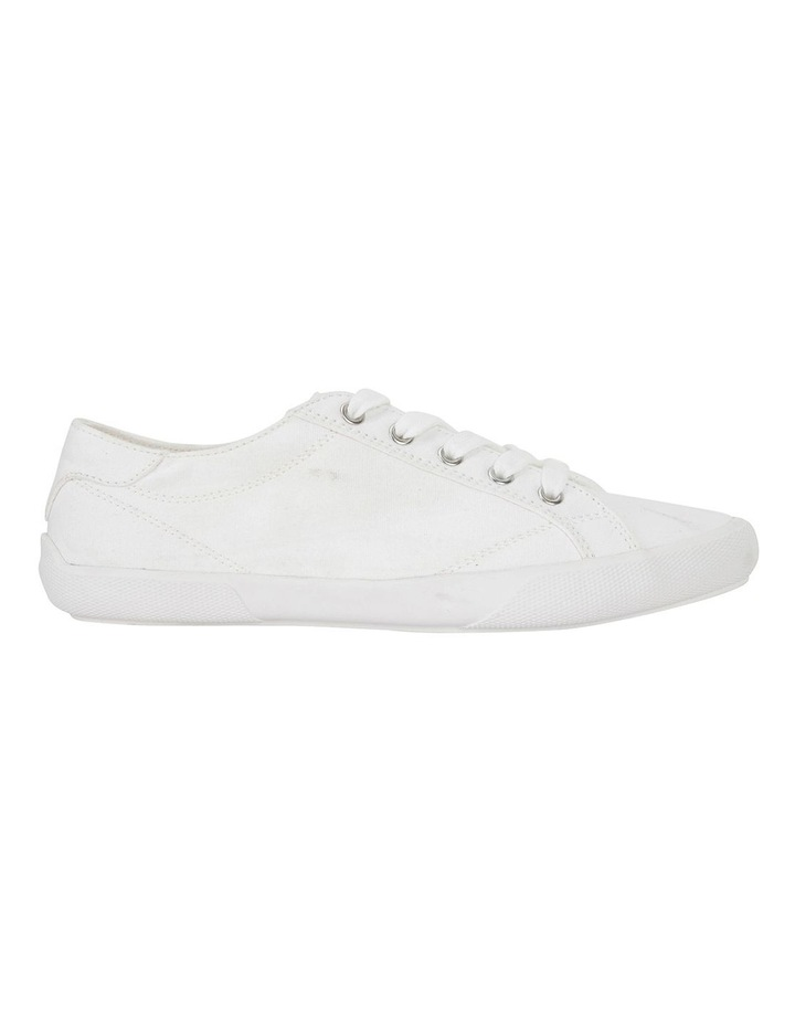 Riddle White Canvas Sneakers image 1