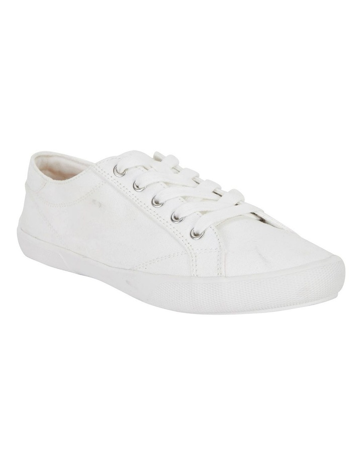 Riddle White Canvas Sneakers image 2