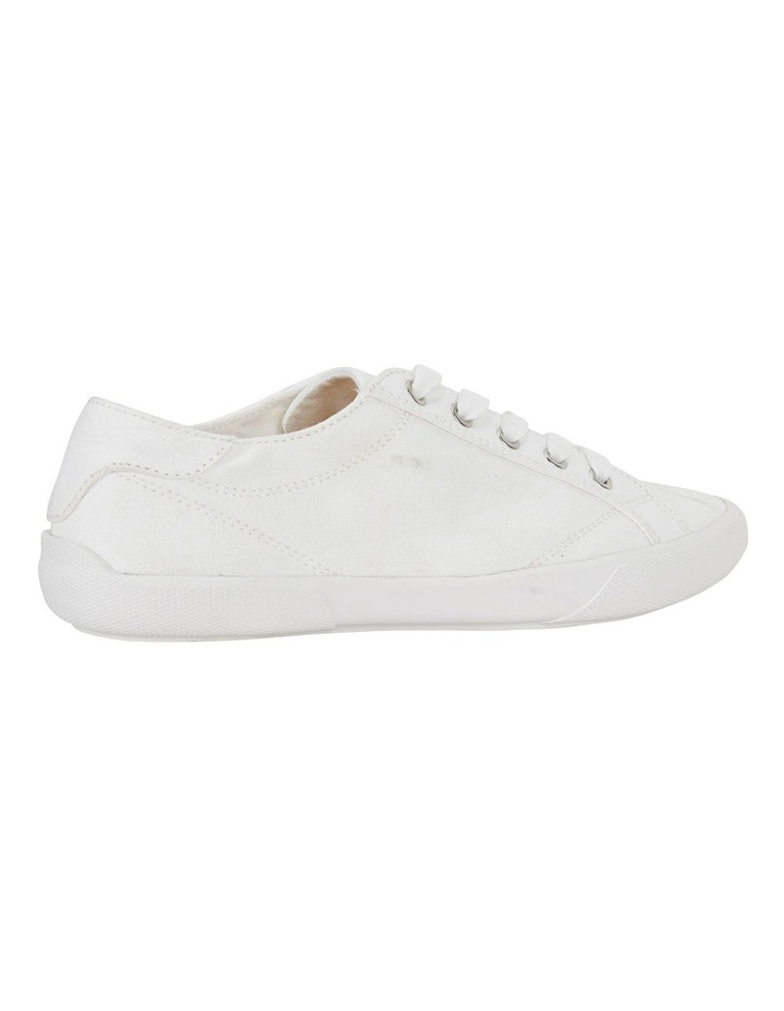 Riddle White Canvas Sneakers image 4