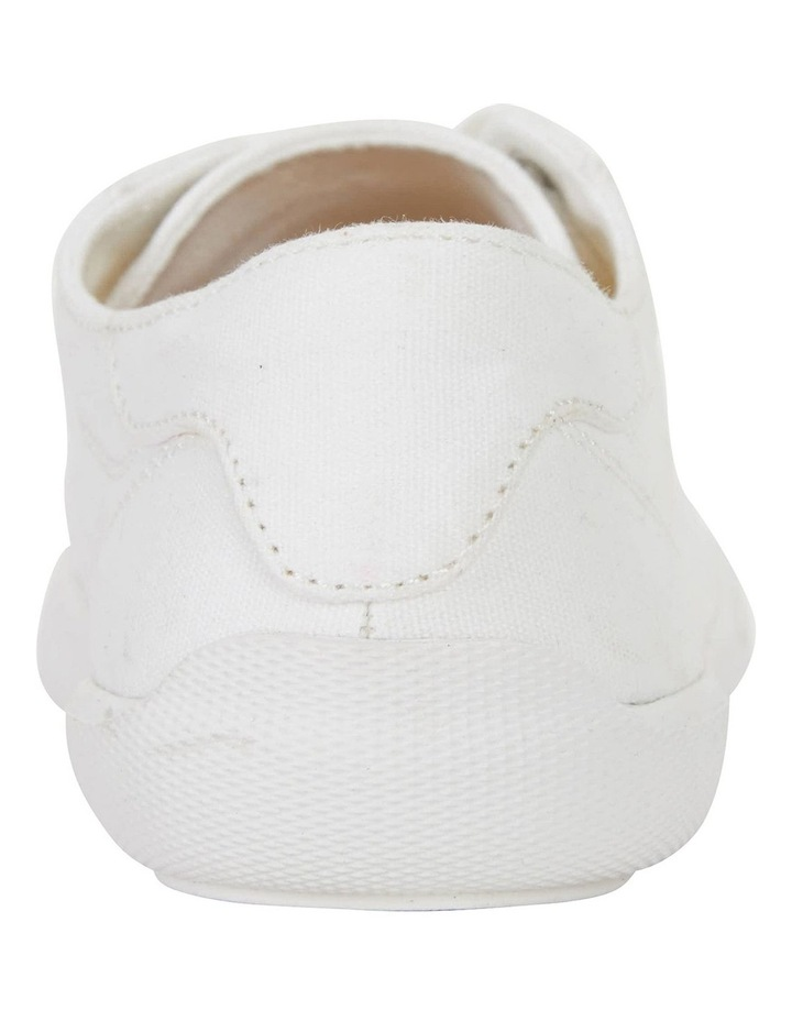 Riddle White Canvas Sneakers image 6