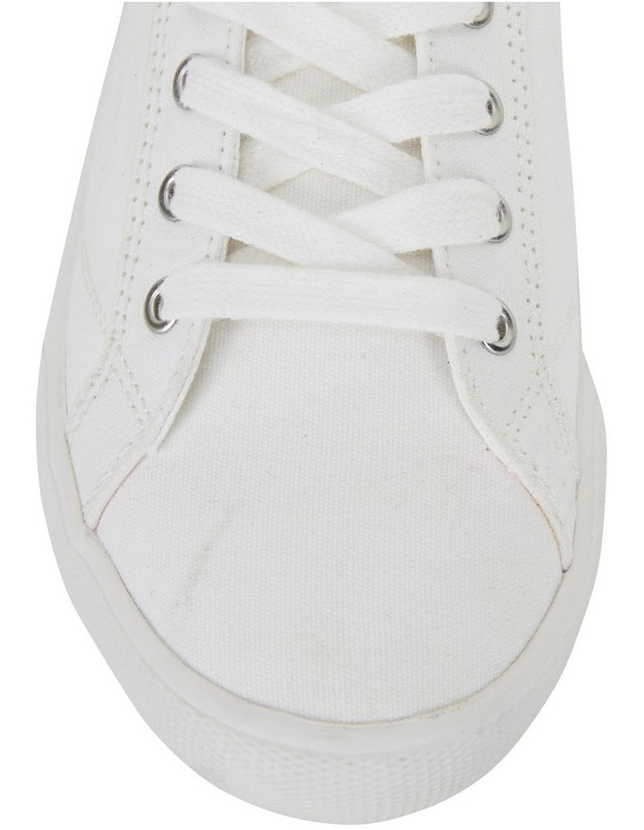 Riddle White Canvas Sneakers image 7