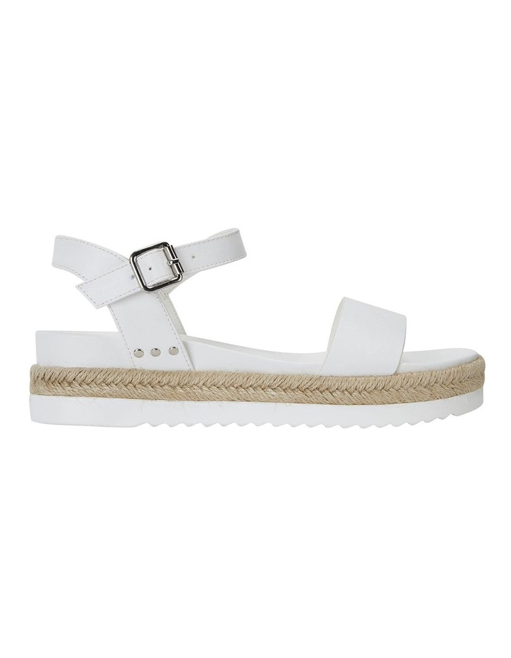 Dynamo White Smooth Sandals image 1