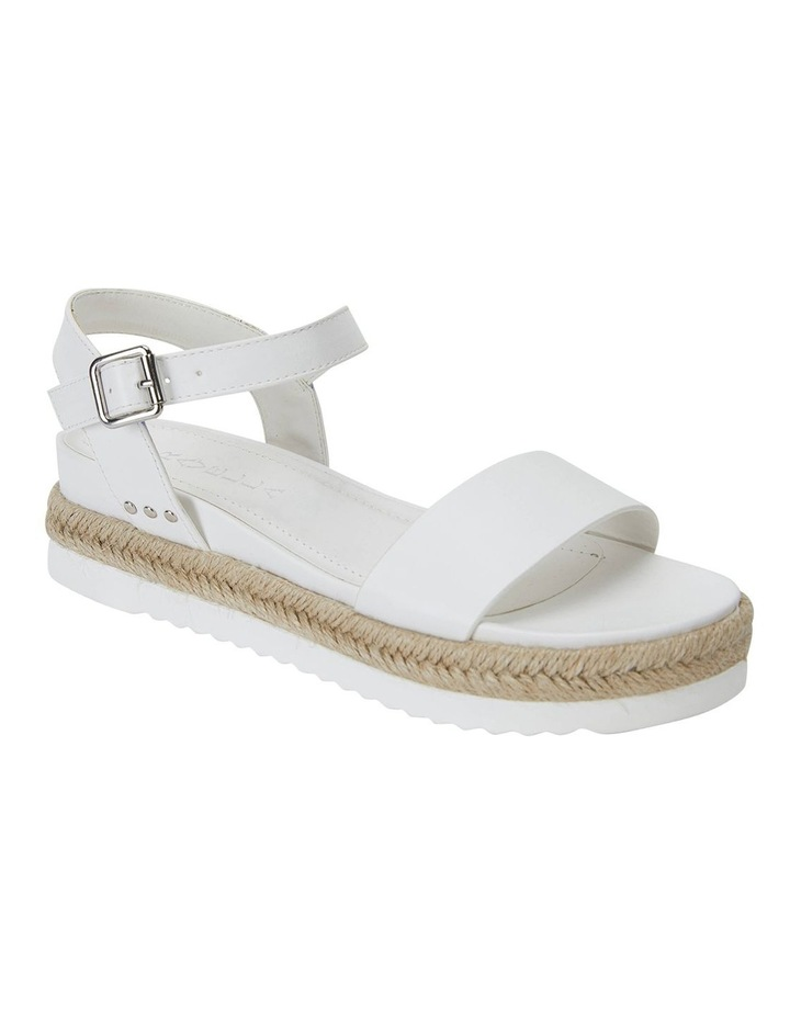 Dynamo White Smooth Sandals image 2