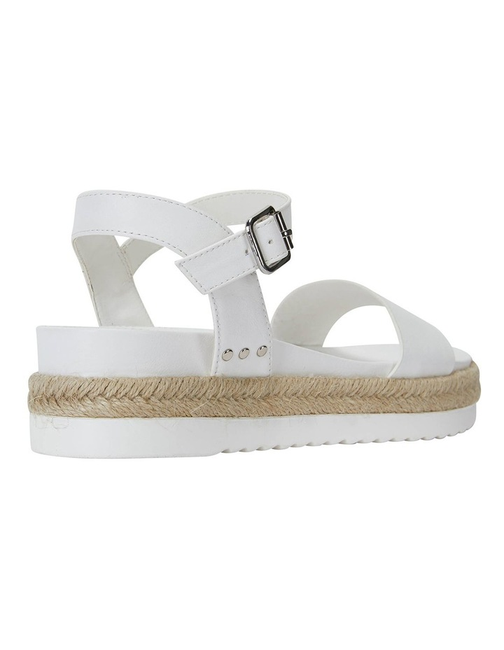 Dynamo White Smooth Sandals image 4