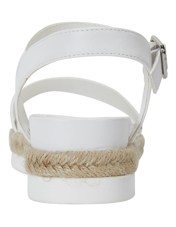 Dynamo White Smooth Sandals image 5