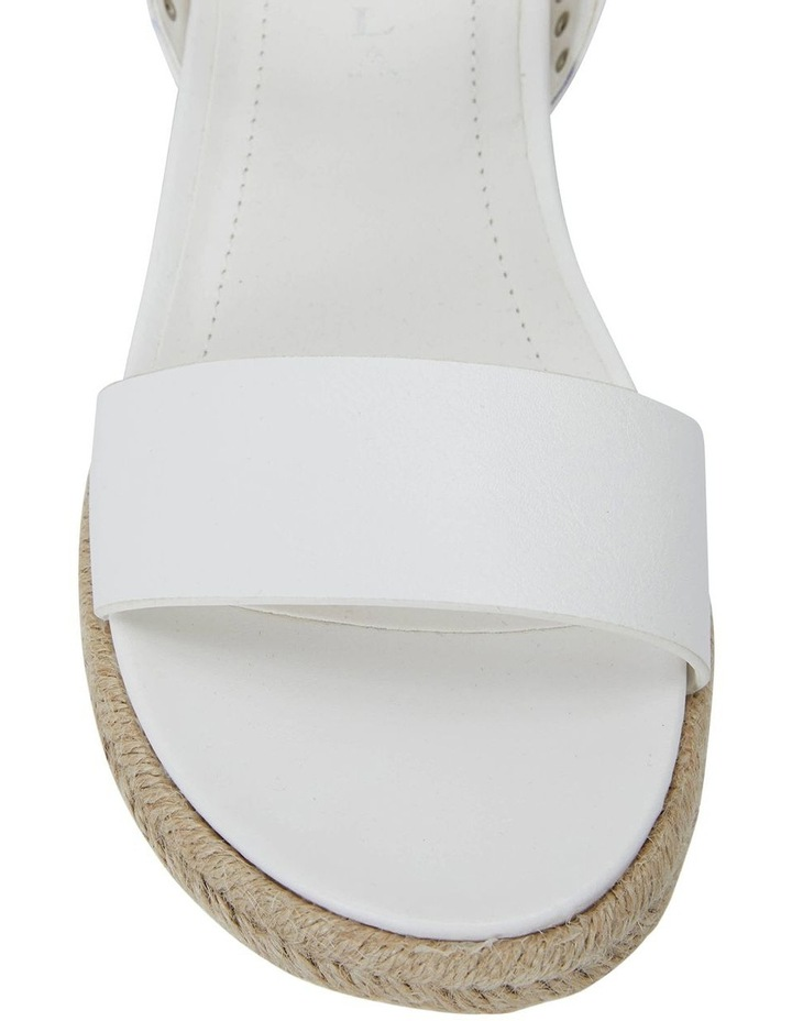 Dynamo White Smooth Sandals image 6
