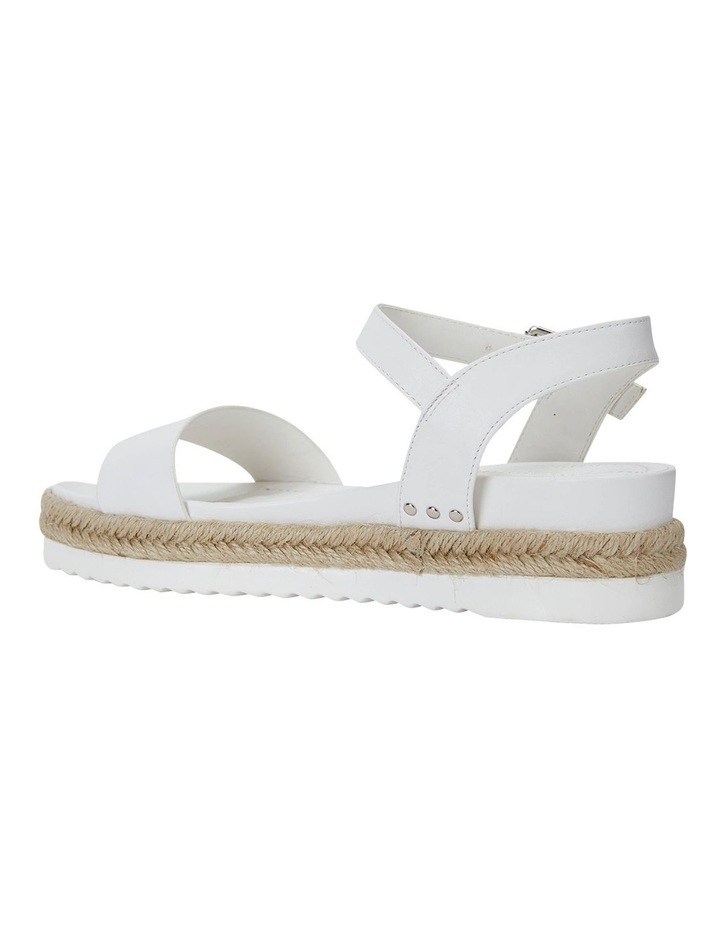 Dynamo White Smooth Sandals image 7