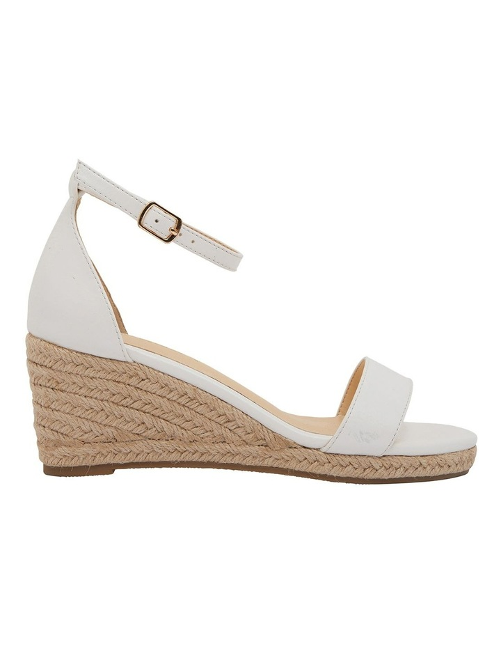 Bloom White Smooth Sandals image 1