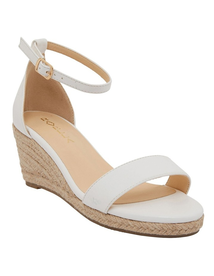 Bloom White Smooth Sandals image 2