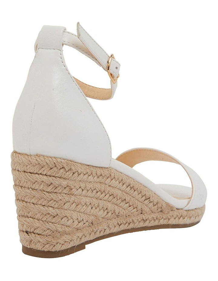 Bloom White Smooth Sandals image 4