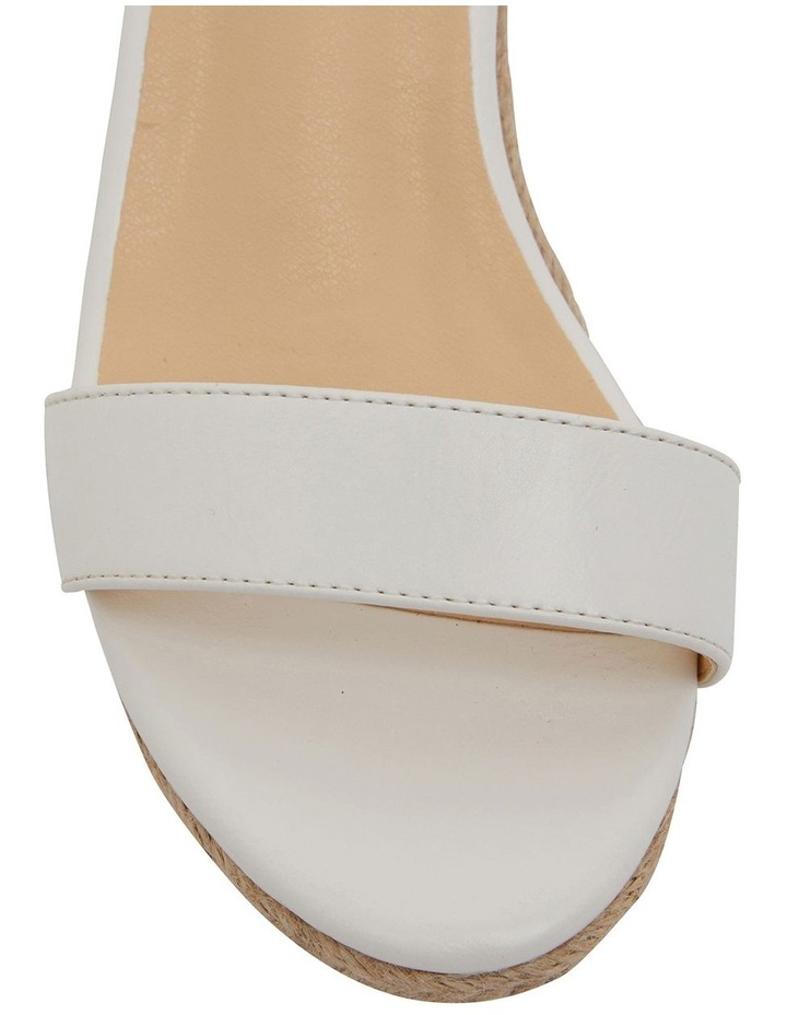 Bloom White Smooth Sandals image 6