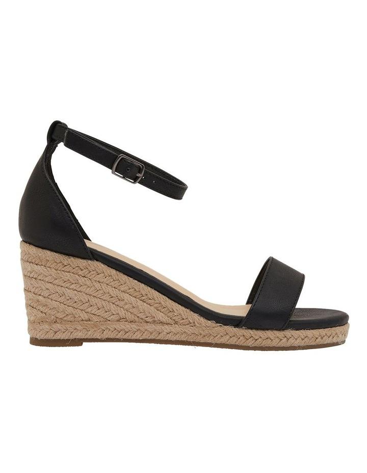 Bloom Black Smooth Sandals image 1