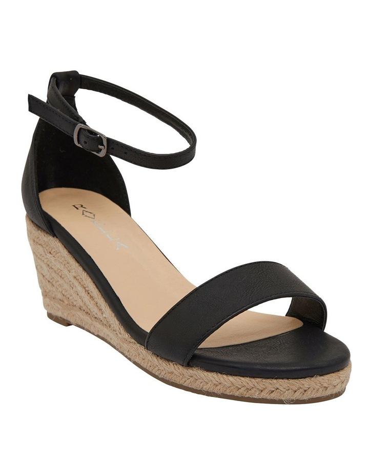 Bloom Black Smooth Sandals image 2