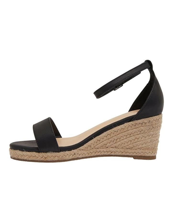 Bloom Black Smooth Sandals image 3