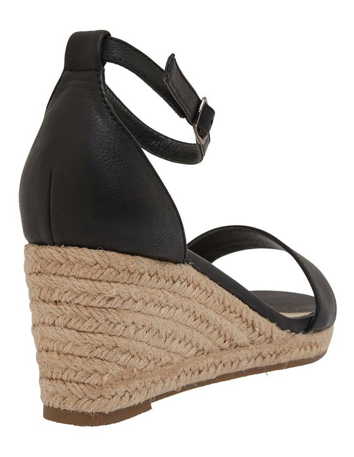 Bloom Black Smooth Sandals image 4