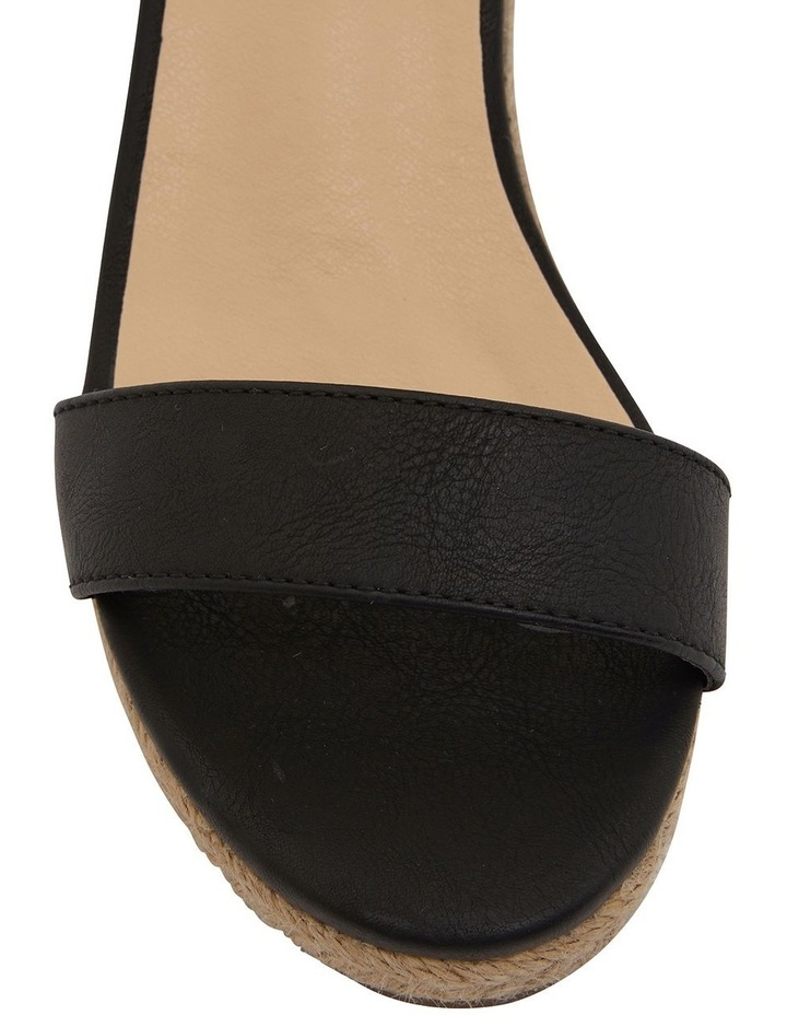 Bloom Black Smooth Sandals image 6