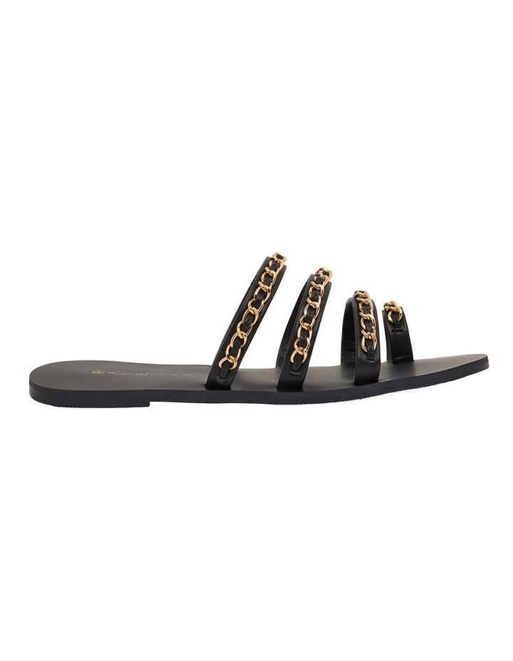 Catalina Black Smooth Sandals image 1