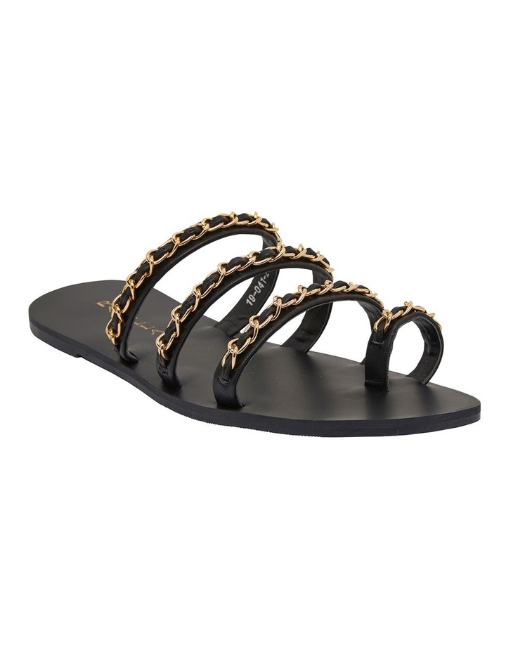 Catalina Black Smooth Sandals image 2
