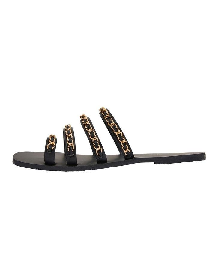Catalina Black Smooth Sandals image 3
