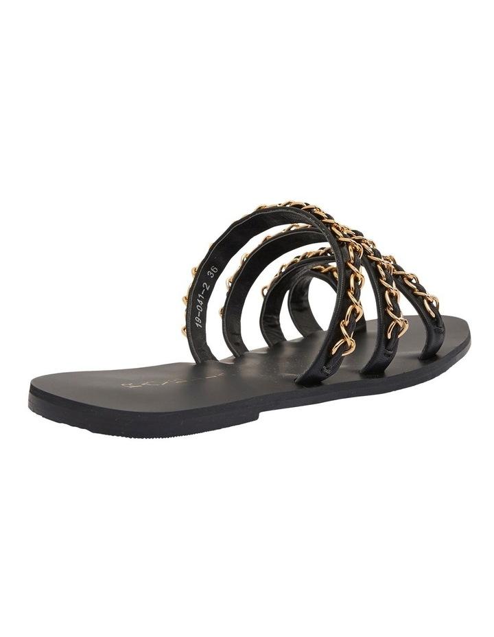Catalina Black Smooth Sandals image 4