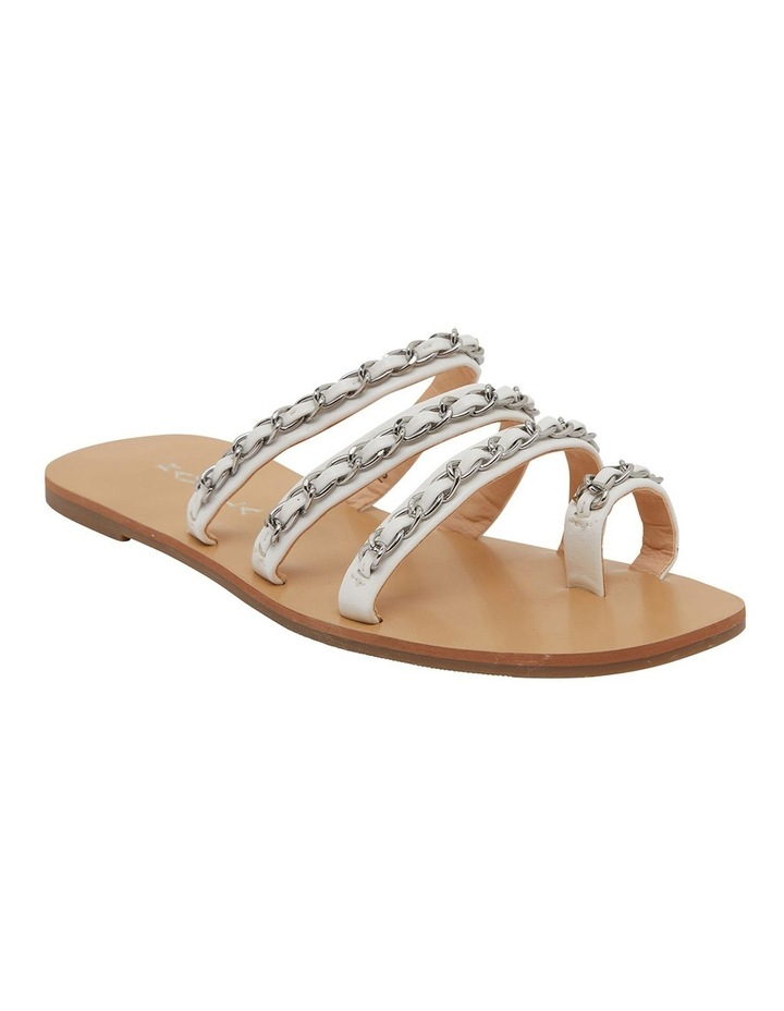 Catalina White Smooth Sandals image 2